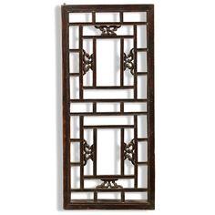 Chinese Rectangular Lattice Window Panel from the Shanxi Region