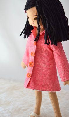 Doll Liberty Dress and Coat Set by PhoebeandEgg on Etsy