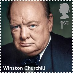 A First Class Royal Mail Stamp featuring Winston Churchill. Part of the 'Influential Prime Ministers' Series. Released 2014. (This is the best of the lot I think)