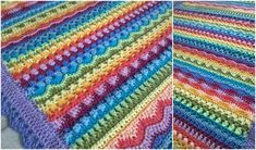Crochet Tooty Stripey Baby Blanket is a beautiful combination of stitches, colors and amazing talent of the author of a crochet pattern.