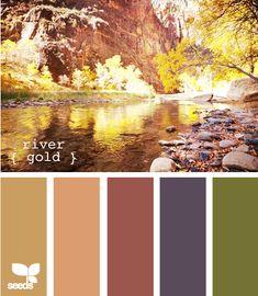 River gold   Color Palette   Paint Inspiration   Paint Colors   Paint Palette   Color   Design Inspiration