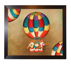 One Stop Shop for all your art needs. Decorate your home with best handmade Oil Paintings, Print On Canva, Reproductions and many more at best price and free delivery at your door-steps. Music For Kids, Art For Kids, Crafts For Kids, Painting For Kids, Hot Air Balloon, Art For Sale, Kids Playing, Balloons, Art Gallery