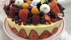 Festkake med jordbær og lime