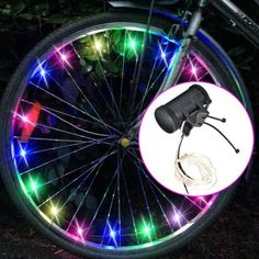 Go Brightz Blue LED Light Mount Bicycle Bike Cycling Scooter Night Safety Kids