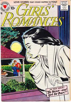 Girls Romances 45 DC Comics by LifeofComics Secret Love Young Romance True Heart Throbs Diary Style Fashion Comics Vintage Comics Love, Old Comics, Vintage Comics, Dc Comic Books, Comic Book Covers, Comic Art, Silver Age Comics, Romantic Comics, Vintage Romance
