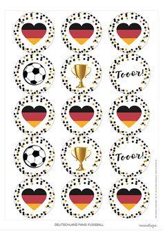 Fußball Deutschland Fahne Topper ausdrucken