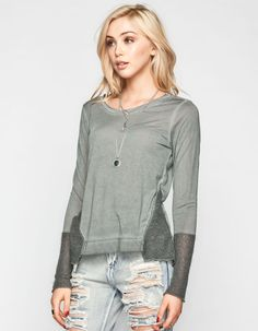 OTHERS FOLLOW Sweater Inset Womens Top 241592143 | Knit Tops & Tees | Tillys.com