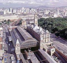 Estação da Luz - São Paulo vista aérea Old Trains, My Town, Paris Skyline, Brazil, Past, City, World, Building, Places