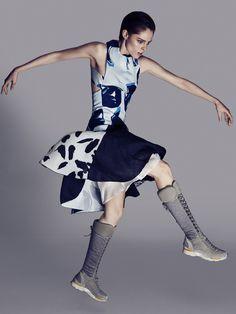 """Coco Rocha in """"Fierce Creature"""" byDarren McDonaldforSunday Style Australia,November 2014"""