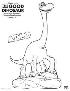 Disney The Good Dinosaur Arlo Coloring Page