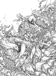 This level of detail is something I would really like to recreate in my drawings, what makes it work so well, is that he never sacrifices composition for detail an style. (Joe Madureira, september 22nd 2010)