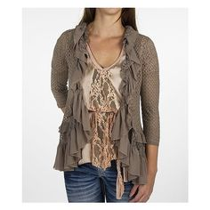 Gimmicks by BKE Pieced Flyaway Cardigan Sweater... 68.00 {like the top underneath too...}