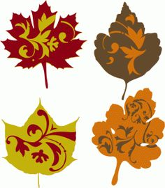 Silhouette Design Store - View Design #46909: fall flourish leaves