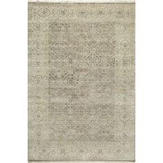 Villa Ornamental Hand-Knotted Taupe Rug