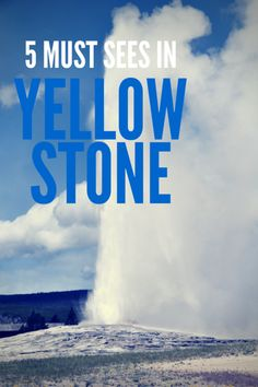 5 Must-sees in Yellowstone National Park, including how you can avoid the crowds and make the most of your time!