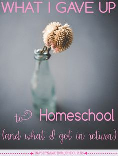 What I Gave Up to Homeschool (and what I got in return). Bitterness or resenting homeschooling after you have made the choice to homeschool is an easy trap to fall into.  There is much hype about homeschooling. Though some of it's true, some of it is not.  Making wise choices for your family is about being realistic too when it comes to homeschooling. | Tina's Dynamic Homeschool Plus