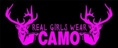 GIRL DEER HUNTING CAMO DECAL 2522