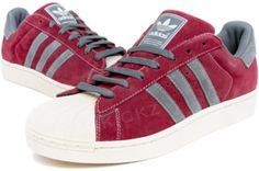 official photos 44edc 5d17a ADIDAS Superstar II 096986 Burgundy   Grey   White From the basketball  court to the hip