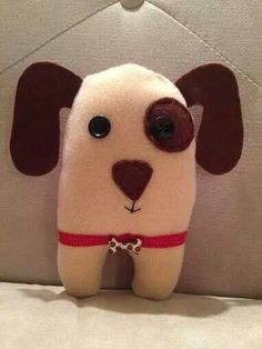 Cute little puppy by Lindy Tate @Ugg Lee Dolls on facebook and Ugg Lee Factory on Etsy.
