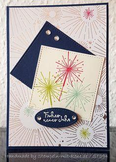 Silvester & Neujahr - Grußkarten Set ST094 Silvester / Neujahr - ein Designerstück von Bastelfan1809 bei DaWanda