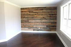 Pallet/shiplap wall in Lucas' room? Project Chase: A Boy's Room Makeover - Project Nursery