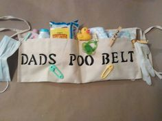 Check out this item in my Etsy shop https://www.etsy.com/listing/292719833/dads-poo-belt-diaper-tool-belt-diaper
