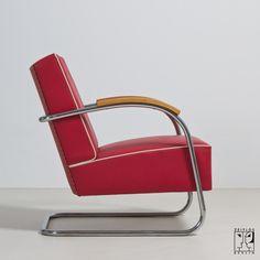 Art Deco club chair - company designer; Mücke-Melder. Czechoslovakia.