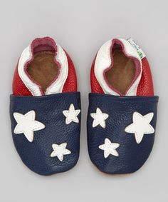 This would be so cute for baby first 4th of July.. Love this Augusta Baby Blue & Red Star Booties by Augusta Baby on #zulily! #zulilyfinds