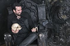 I love this picture!! The Captain and Morgan the raven. Photo shoot in St. Petersburg Russia.