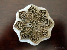 Indian wood stamp Brass stamp Pottery stamp by charancreations