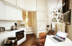 Alkemie: Small Space Living Inspirations - A 431 Sq Ft Apartment in Paris