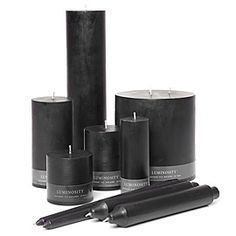 black candles ~ In magic, black candles are used for: Warding Off Negativity, Removing Hexes, Protection and Spirit Contact. They represent the Universe, Night and Truth. Use them to remove Discord or Confusion.