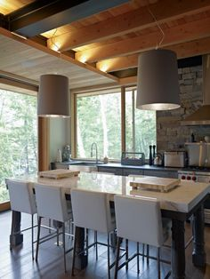 kitchen - modern rustic