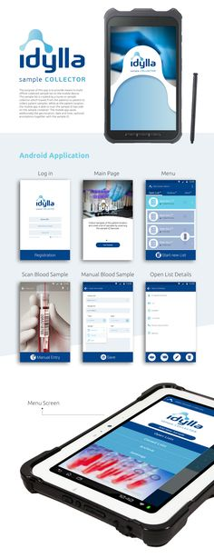 """Check out my @Behance project: """"Android Application - Blood Sample Collector"""" https://www.behance.net/gallery/45670591/Android-Application-Blood-Sample-Collector"""