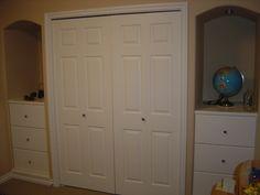 Idea for storage in 2nd flex bedroom - make alcove into closet
