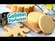 GALLETAS de Mantequilla PERFECTAS CORTADORES Tips | Receta by MARIELLY - YouTube Fun Cookies, Cupcake Cookies, Sugar Cookies, Cupcakes, Easy Cookie Recipes, Cookie Desserts, Mexican Desserts, Biscuits, Sin Gluten