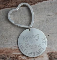 Mother of the Bride Personalized Key Chain - Engraved