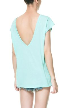 Image 1 of T-SHIRT WITH V-NECK BACK from Zara