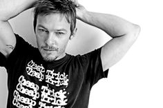 Norman Reedus...loved him Boondock Saints (and Walking Dead), but, him wearing a Cheap Trick shirt just sealed the deal. <3