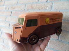 boite tole tin box camion HY TUB Citroen  Biscuits de tradition