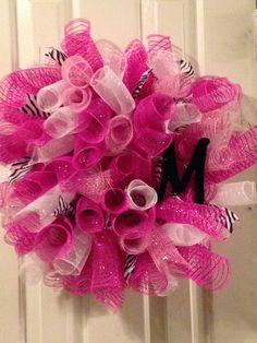 Baby girl mesh wreath