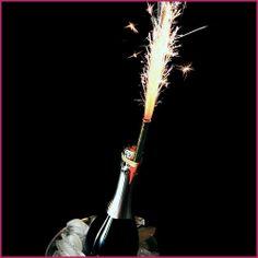 Champagne Bottle Sparklers 1