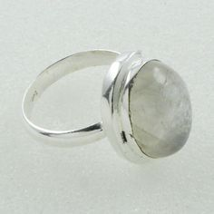 Rainbow Moon Stone New Arrival Design 925 Sterling Silver Ring by JaipurSilverIndia on Etsy