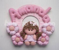 Enfeite Porta Maternidade Boneca Rosa