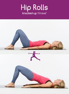 Hip Rolls are a must for helping to repair diastasis recti or even just get those abs back after baby / postpartum! via Knocked Up Fitness {Erica Ziel}