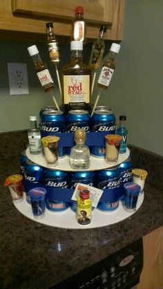 coors light instead of bud and this would be a great alternative to a cake for  my boyfriends birthday