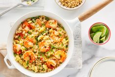 Cooking rice in broth is a simple way to infuse maximum flavour into this simple dish. Shrimp Recipes, Rice Recipes, Asian Recipes, Cooking Recipes, Healthy Recipes, Ethnic Recipes, Cooking Rice, How To Cook Rice, Dessert