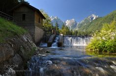 Fusine Lake. Small waterfall / Lago di Fusine. Cascatella. by blanksamantha