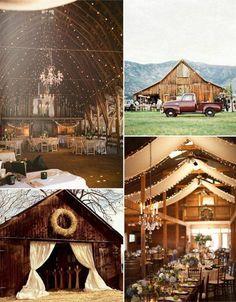 A barn wedding. How cool!!
