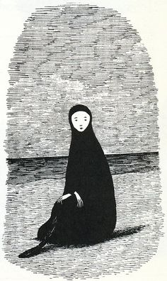 """Edward Gorey Illustration from """"Leaves from a Mislaid Album"""" from Amphigorey Too"""